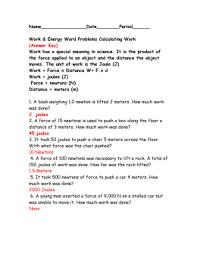 work u0026 energy word problems calculating work calculating power