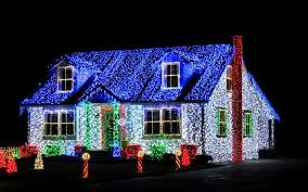 create your own christmas light show set to music blessed beyond