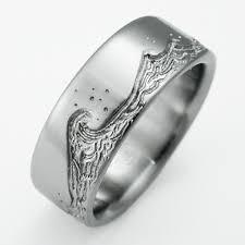stargate wedding ring titanium wedding ring exotica jewelry l wedding