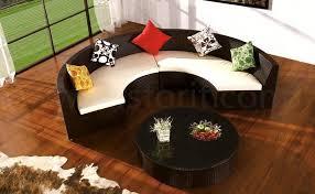 Half Round Sofas Oval Half Round Rattan Wicker Sofa Lounge For Hotel Ft 9014