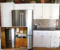 painting cabinets white before and after diy friday the simple way to repaint your kitchen cabinets andrea