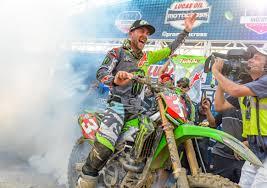 pro motocross monster energy kawasaki and eli tomac clinch 450 pro motocross