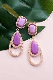 pretty earrings poolside pretty earrings in purple impressions online boutique