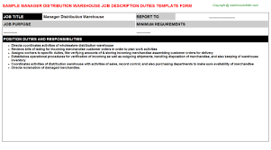 Warehouse Job Description For Resume by Warehouse Ticketing Responsibilities Resume Job Descriptions