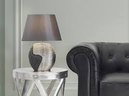 eclairage de bureau eclairage parasol coloris noir lampe à poser en métal et abat