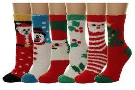 fuzzy christmas socks gilbin s 6 pairs women s supersoft fuzzy socks size 9 11 x
