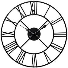 roamn numeral stunning metal numeral clock black iron co uk