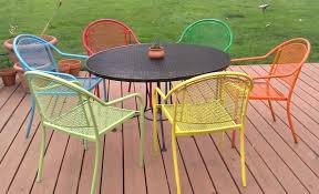 Metal Patio Chair Gorgeous Metal Patio Chair Awesome Painting Furniture With Six