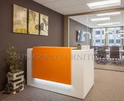 Simple Reception Desk Popular Simple Design Orange Small Salon Reception Desk Sz Rt055