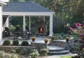 Outdoor Patio Fireplaces Patio Designs For Outdoor Fireplaces Bricks And Stones