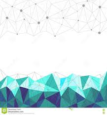 abstract blue polygonal line and dot with white background