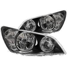 lexus is300 black anzo usa lexus is300 01 05 crystal headlights black