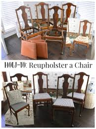 Reupholster Chair How To Easy Chair Reupholstery Tutorial