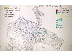 newark map state map of newark riot area july 1967 c 12 the