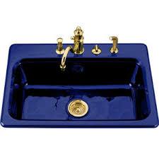 Blue Kitchen Sinks Blue Kitchen Sink Kohler Iron Tones Sink In Mick De Giulio S