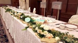 table setting western style long table setting western style long table setting flower decor at