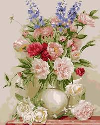 Design For Vase Painting Buy Flower And Vase Diy Painting Color By Numbers At Lifeix Design