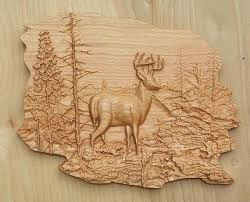 deer wood wall deer wood carving deer decor wood wall by thewoodgraingallery