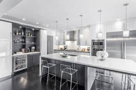 Kitchens Idea Minimalist Modern White Grey Kitchen Design Oakville Callumskitchen