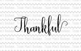 thankful script svg dxf eps printable instant