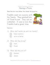 basic reading comprehension worksheets mreichert kids worksheets