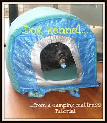 dog kennel from an ikea bag and camping mattress ikea hackers