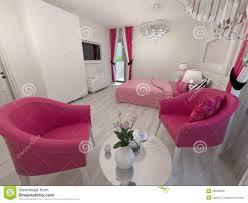 Schlafzimmer Rosa Modernes Weißes Und Rosa Schlafzimmer Stock Abbildung Bild 48538696