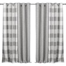 Black And White Thermal Curtains Blackout Curtains Level 4 Wayfair