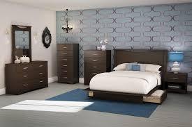 South Shore Back Bay FullQueen Platform  Piece Bedroom Set By OJ - 7 piece bedroom furniture sets