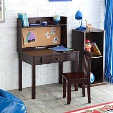 Children Chair Desk Desk Chair Kids Desk And Chair Combo Brown With Notice Board For