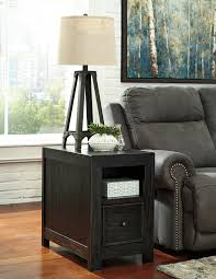 Chair Side Table Gavelston Black Chair Side End Table T752 7 Chair Side