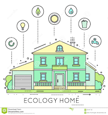 Eco Friendly House by Eco Friendly Home Infographic Stock Vector Image 63441730