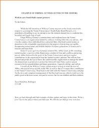 a formal letter to the editor sample basic job appication letter