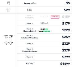 vue everyday smart glasses vue u2014 kickstarter