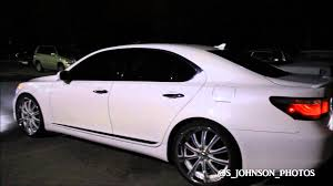 lexus ls430 aftermarket wheels shinning pearl white lexus on 22 inch lexani forged staggered rims