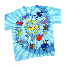 Colorado Flag Tie Dye Shirt The Beatles Yellow Submarine Spiral Tie Dye Mens T Shirt