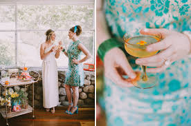 cheers vintage 60s cocktail party wedding inspiration green