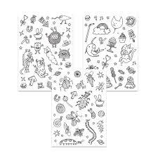 Stickers à colorier Colouring activity motifs Monstre et Insecte