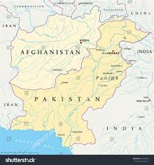 kabul map afghanistan pakistan political map capitals kabul stock vector
