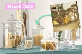 Bathroom Glass Storage Jars Glass Bathroom Storage Jars My Web Value