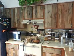 Diy Cabinet Refacing With Pallet Board Things To Love In Life - Diy kitchen cabinet refinishing