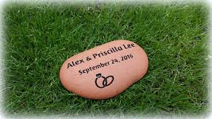 personalized custom engraved garden rocks u0026 stepping stones