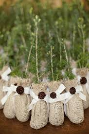 eco friendly wedding favors winter wedding idea evergreens favors twine and burlap