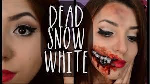 Halloween Snow White Makeup by Dead Snow White Zombie Snow White Halloween Youtube