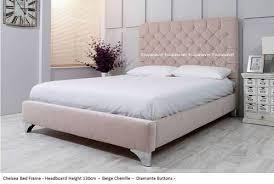 Suede Bed Frame Chelsea Bed Frame Available In Crush Velvet Chenille Linen Or