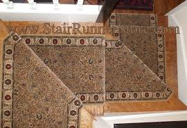 pie step stair runner installation traditional staircase new