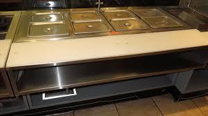 duke gas steam table duke ad14e electric steam table w 4 sealed wells w cutting board