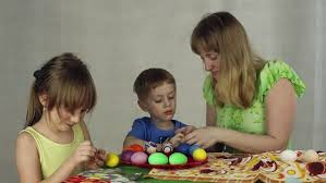 Decorate Easter Eggs Using Stickers by Decorating Easter Eggs With Stickers Stock Video Footage Dissolve