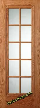 Interior Doors With Glass Panel Door Six Panel Interior Oak Doors