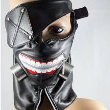 leather mask quality masks tokyo ghoul kaneki ken adjustable zipper
